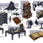 An array of props designed for the Oblivion realm of Coldharbour, the setting for much of ESO's main storyline. Molag Bal holds dominion over this wretched plane.