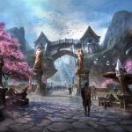 The entrance to the Crypt of Hearts lies on the southeastern border of Rivenspire at the foot of the Wrothgar Mountains. Once an idyllic farming enclave, something evil has taken root here and destroyed the peaceful city of Heartland.