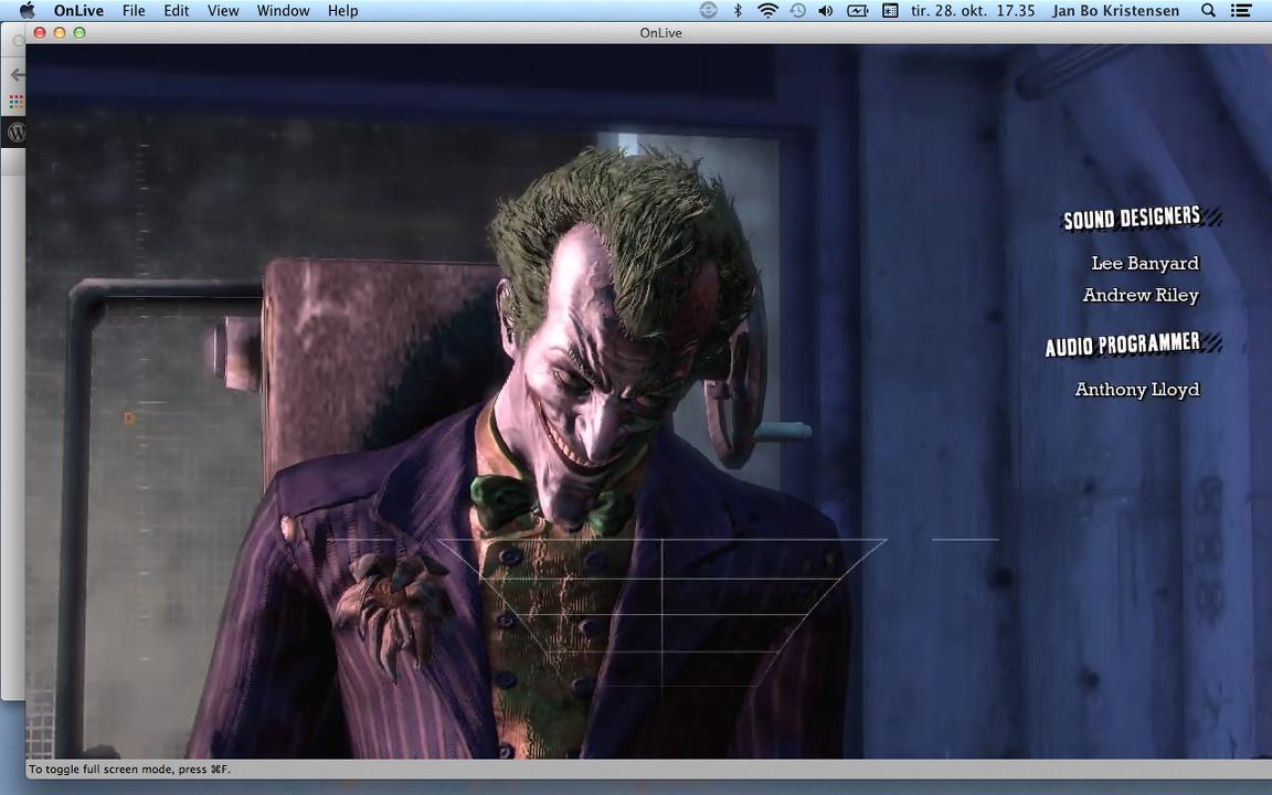 Sådan spiller man Batman på en Mac